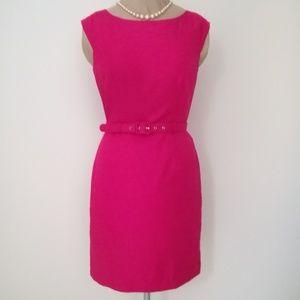 Banana Republic Factory hot pink belted dress